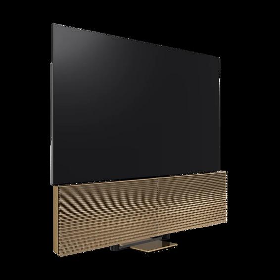 BeoVisionV300-88-Open-Brass-SmokedOak-L6