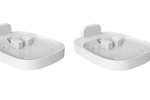 ynVISION Fixed Wall Mount for Sonos One, One SL, Play:1 Speaker | WHITE | 2 PACK