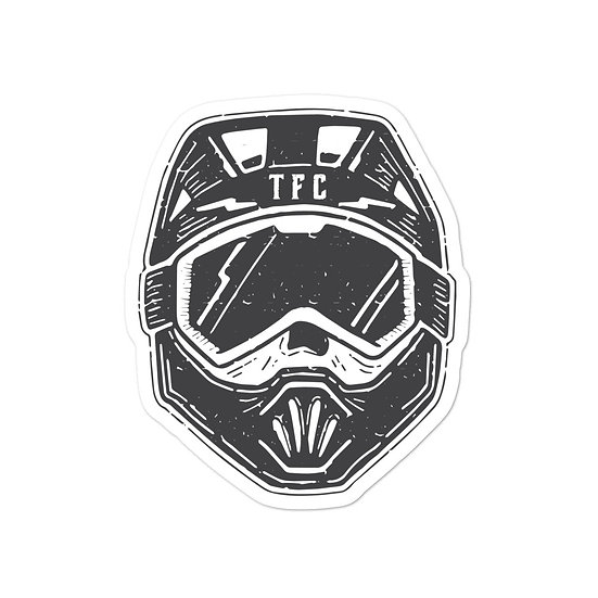 T.F.C Helmet Sticker Black