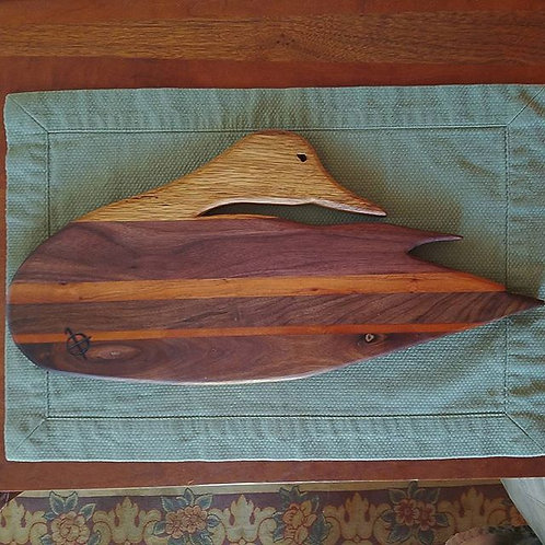 Walnut, Cherry & White Oak Elmer Crowell Black Duck Silhouette