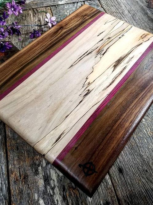 Walnut, Purpleheart, & Spalted Maple
