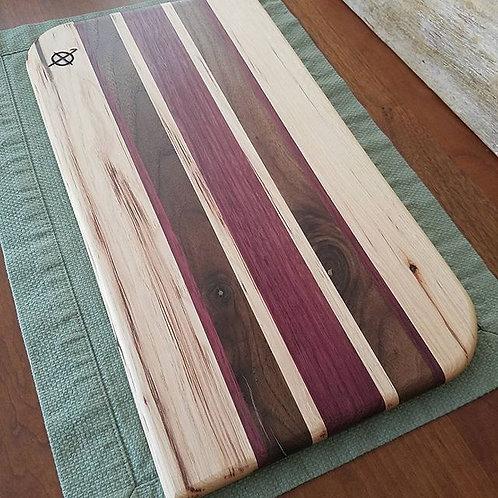 Hickory, Walnut, & Purpleheart