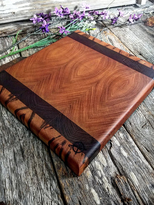 Tiger Wood, Wenge, & Mahogany End Grain with finger holds
