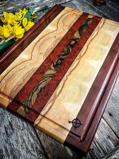 Mahogany, Ashy, Padauk and Zebra Wood w/Metallic Copper Fills