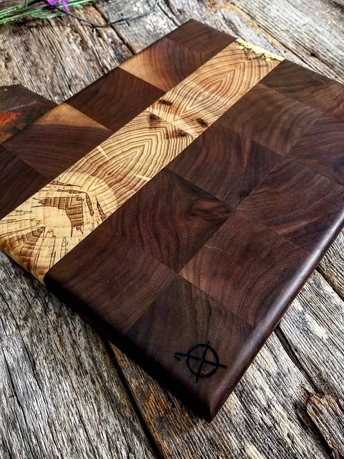 Walnut and Spalted Hickory End Grain