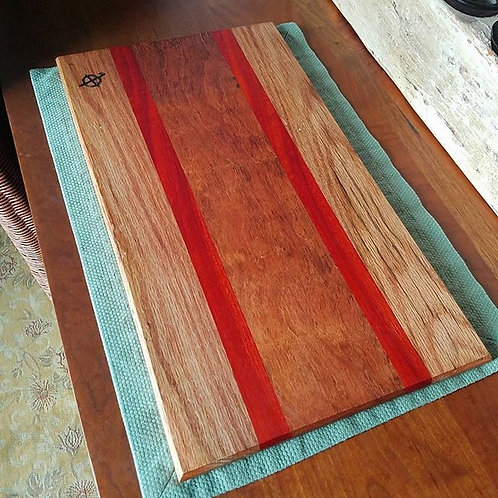 Red Oak, Padauk & Mahogany
