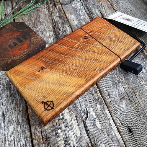 Vintage heart pine cheese slicer