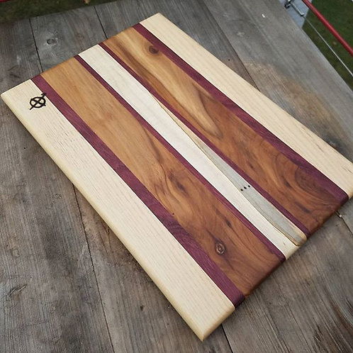 Hickory, Purpleheart, Apple and Ambrosia Maple