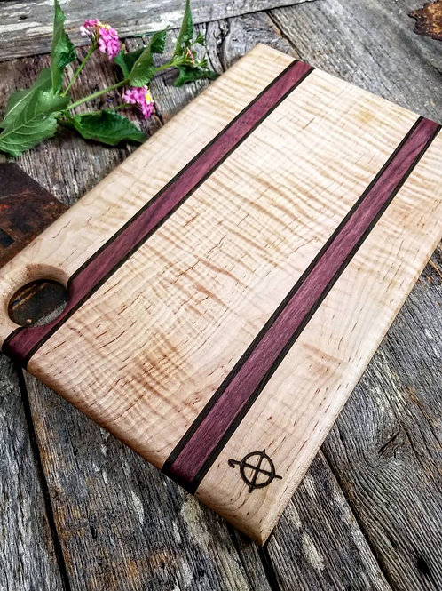 Curly Maple, Wenge, And Purpleheart