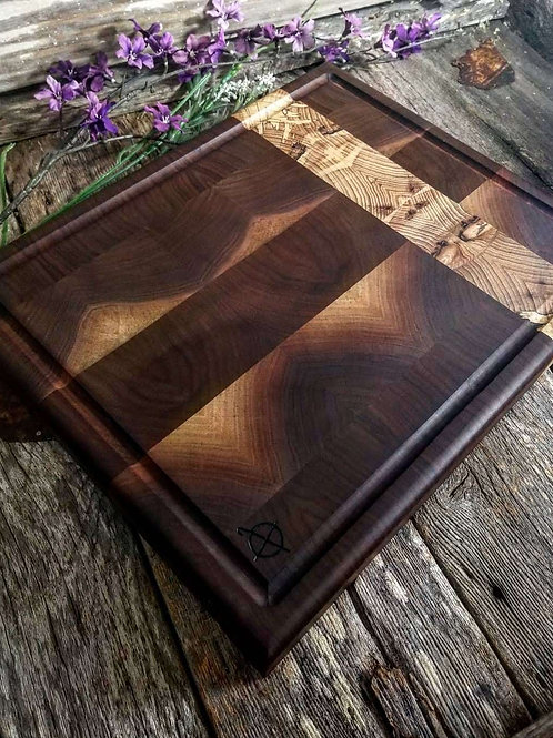 Walnut & Spalted Hickory End Grain
