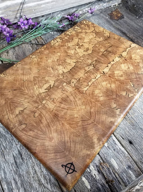 Spalted Hickory End Grain