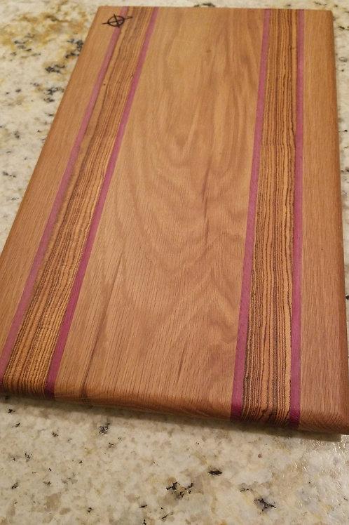 White oak,  purpleheart and bocote