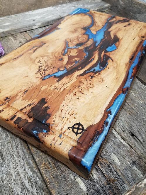 Gorgeous & Unique Pecan with Metallic Blue Fills