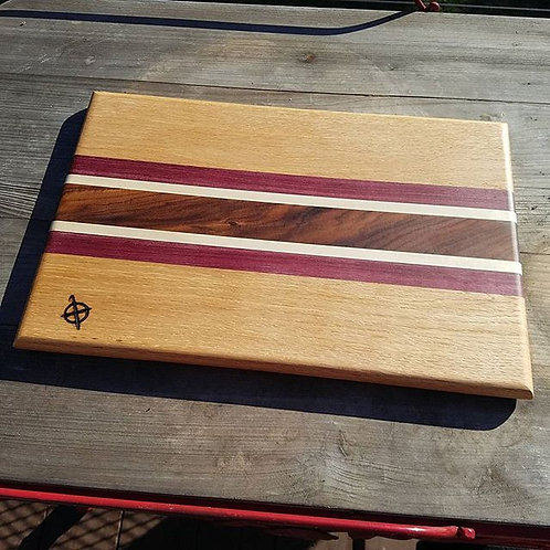 Oak, Purpleheart, Maple & Bolivian Rosewood