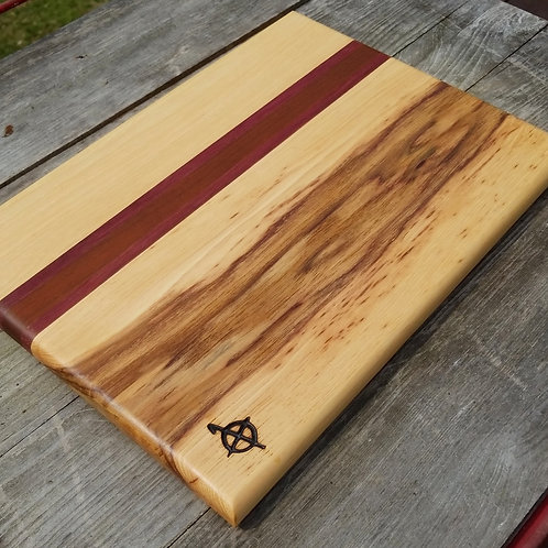 Hickory,  purpleheart and ipe