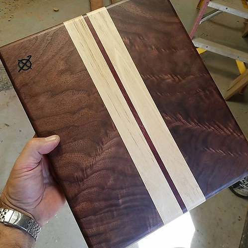 Walnut, Hickory & Purpleheart