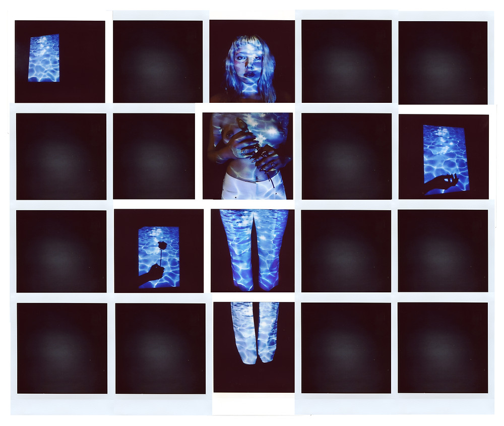 Fuji Instax Square Photo Collage by Erin Delsigne