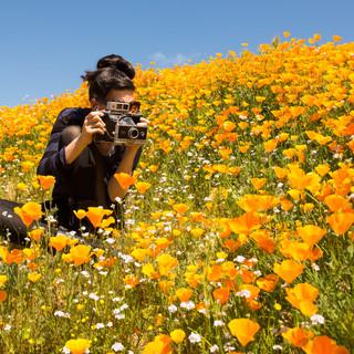 Poppy Field Portrait