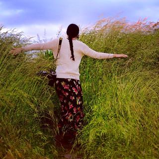 A walk in the wild grass