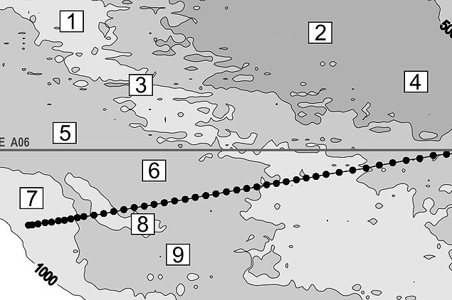 Water mass characteristics in the equatorial North Atlantic: a section nominally along 6.5N, July 2000