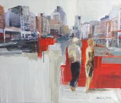 1397.+-+A+Walk+in+NYC+-+acrylic+on+canvas+-120+x+100+cm