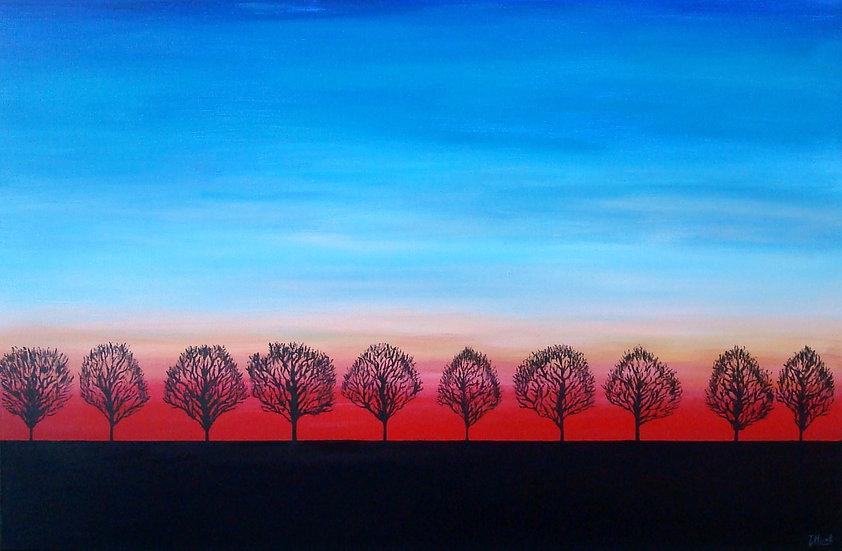 Ten evening trees, SOLD