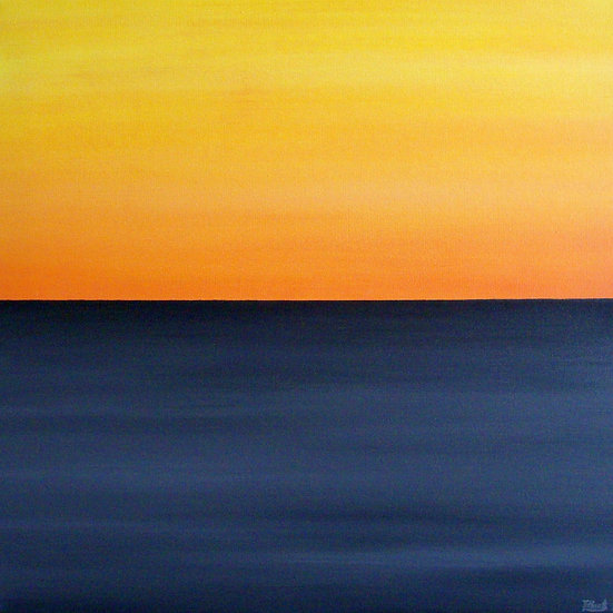 Sunset over the ocean, SOLD