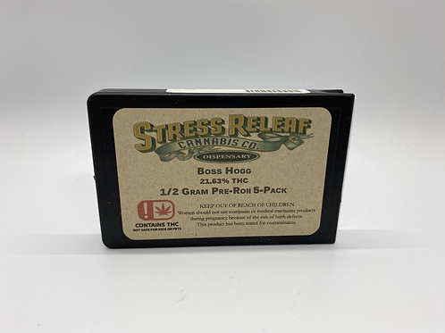 Stress Releaf - Boss Hogg Pre-Roll 5-Pack