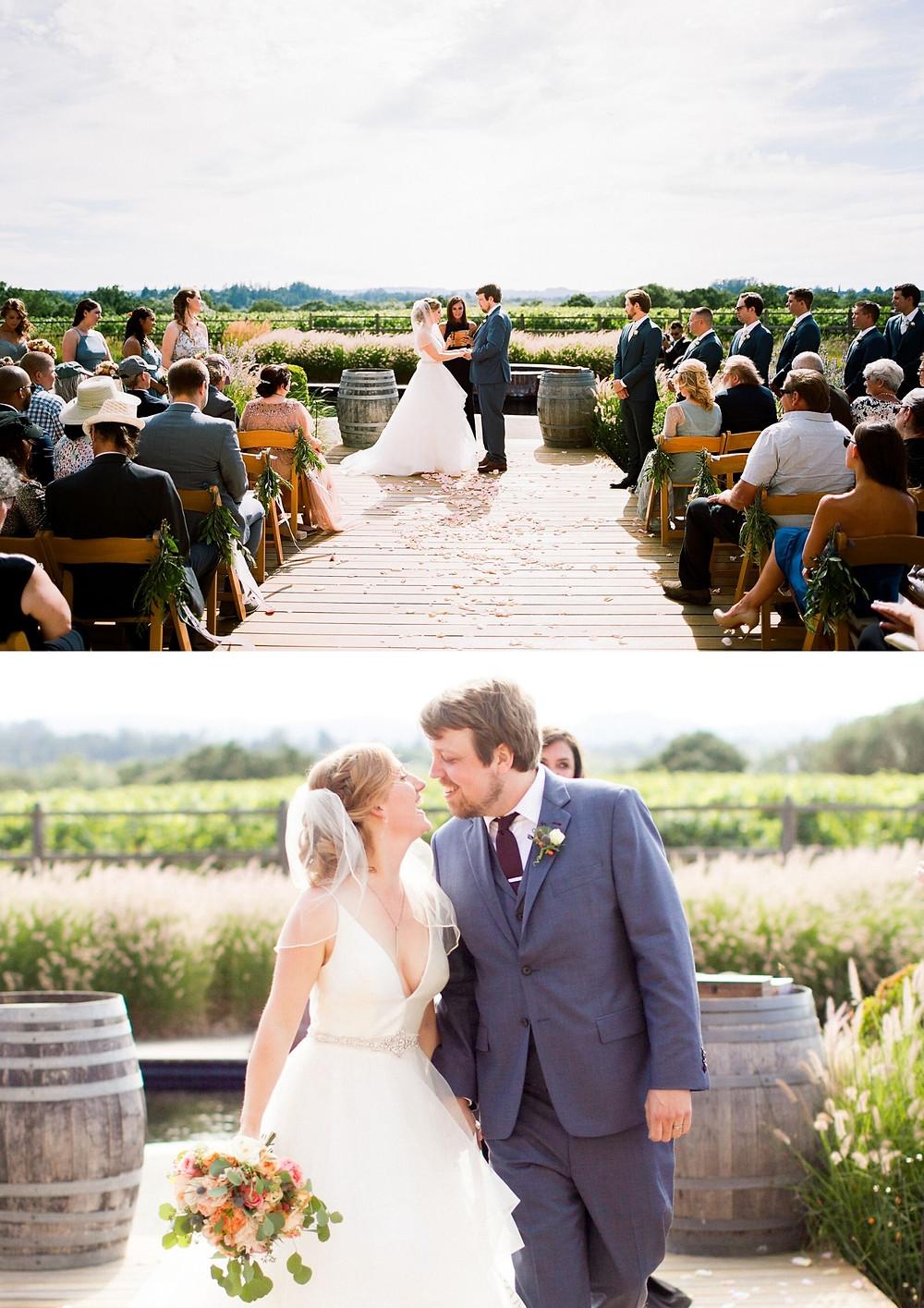 beautiful wedding in napa valley