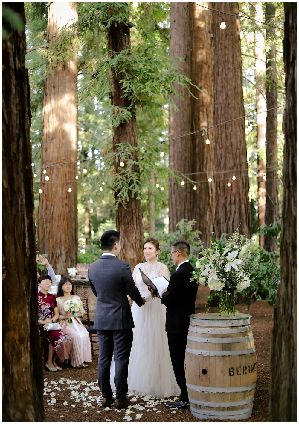 beautiful wedding in napa valley