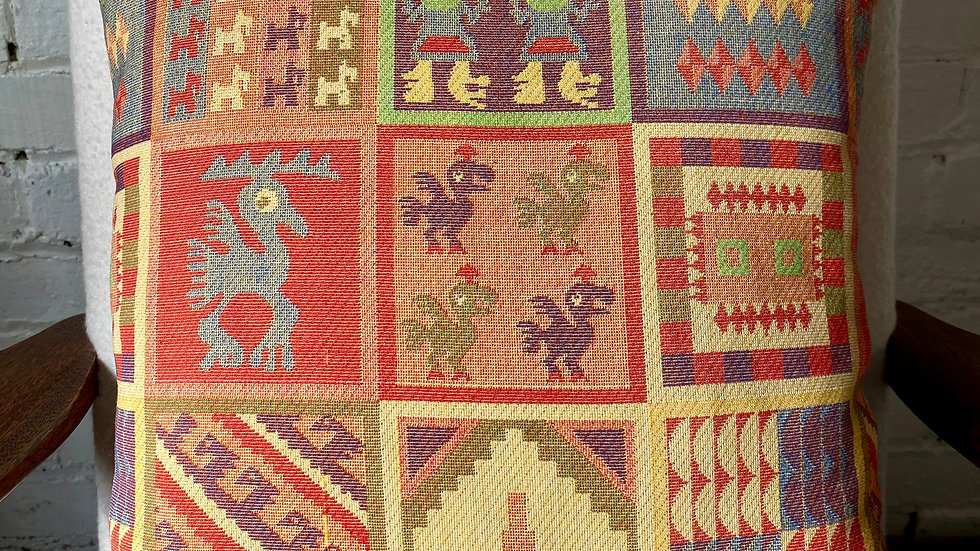 1960's 'Inca' Scatter Cushion Cover