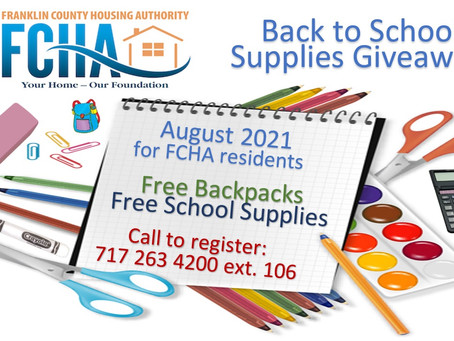 Back to Supplies Giveaway & Donations