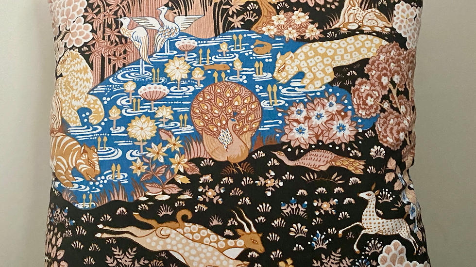 Rare Sanderson 'Animal Kingdom' Cushion Cover.