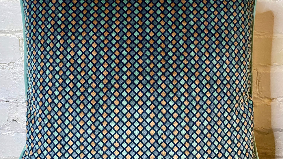 Salvaged 1960's Harlequin Cushion Cover