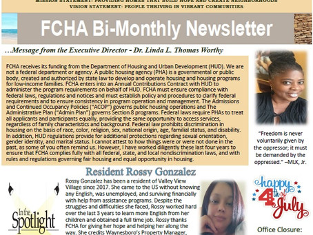 July/August 2021 Bi-Monthly Newsletter