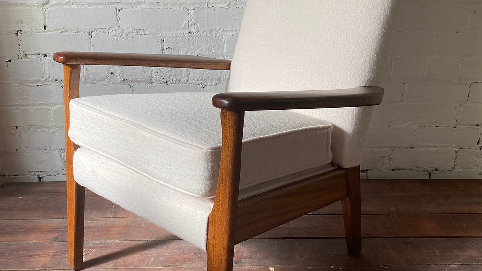 Refurbished Parker Knoll Arm Chair in Boucle Wool