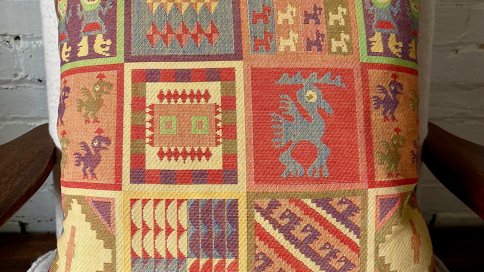 Salvaged 1960's 'Inca' Scatter Cushion Cover