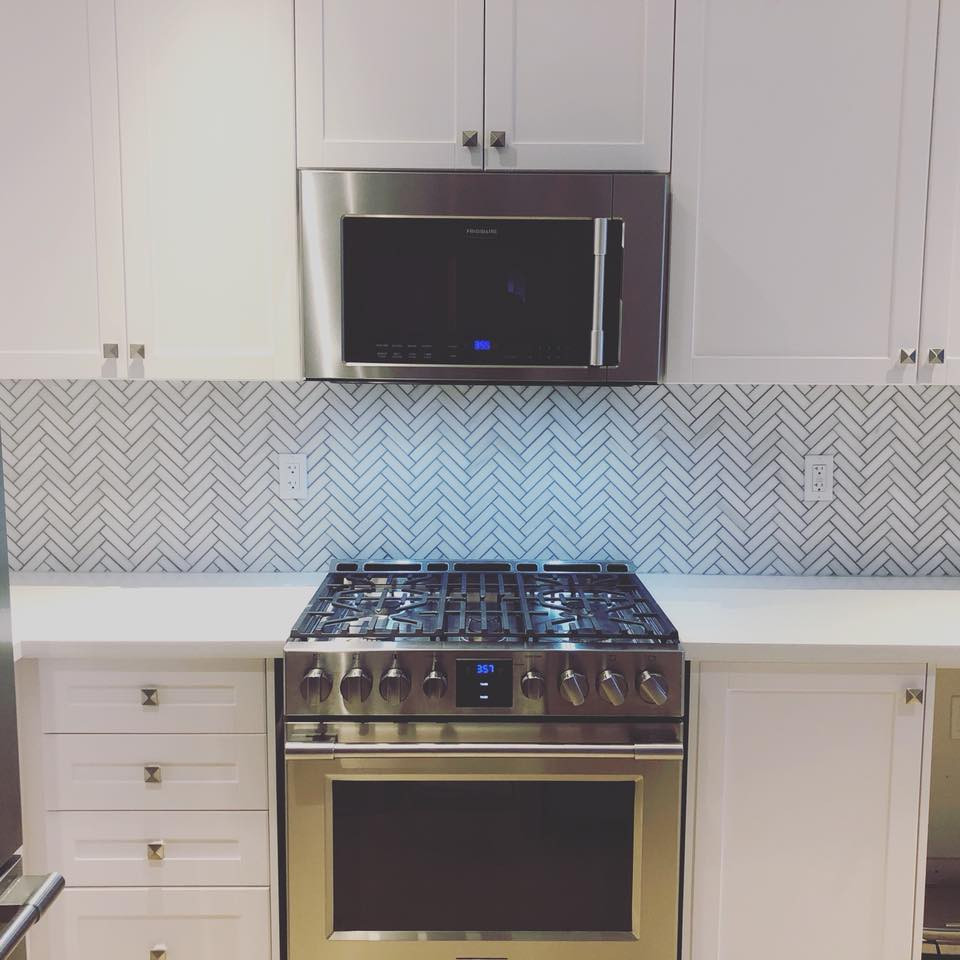 harringbone backsplash