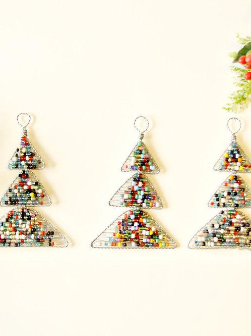Beaded Christmas Tree Ornament