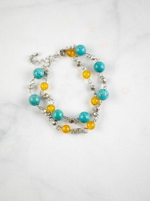 Yellow & Turquoise Bracelet