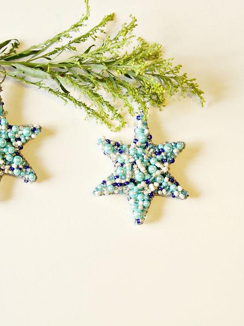 Blue Star Christmas Ornament