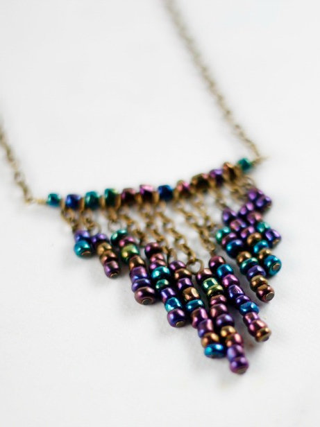 Dangling Bliss Multicolored Necklace
