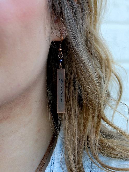 Freedom Bar Earrings