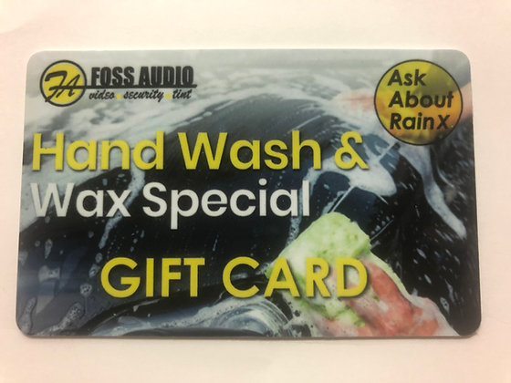 Hand Wash & Wax Gift Card