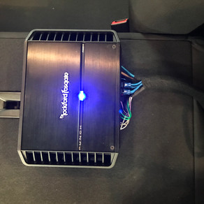 Chevy Sonic Upgrad  New Rockford Amp and Hertz speakers improved the volume and clarity.