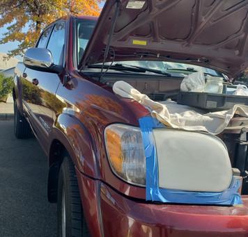 Rock Chip Repair plus Headlight Restoration