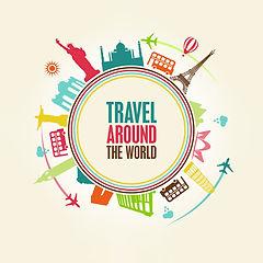Macromondo viaggiare per il mondo grafica