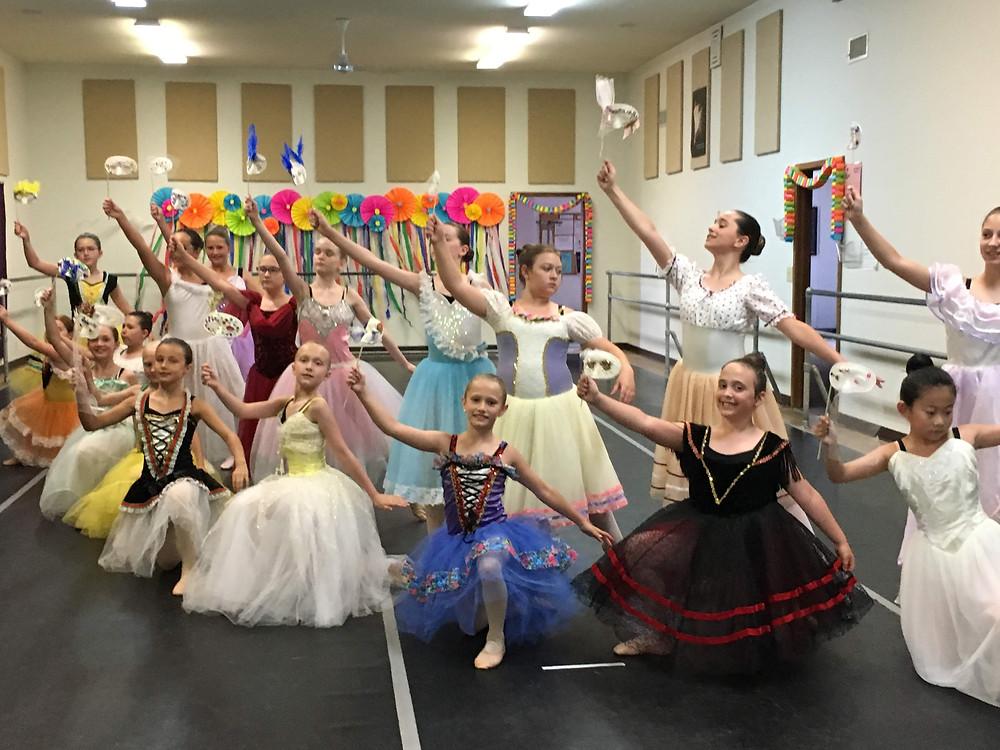 Dancers perform their ballet-Masquerade Ball