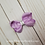 Thumbnail: Sparkle Small Twisted Boutique Hair Bow