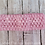 Pink Crocheted Elastic Headband Loop Hair Bow